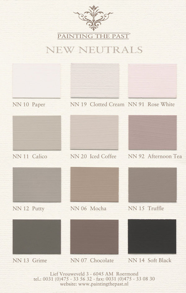 Farbkarte ´New Neutrals´